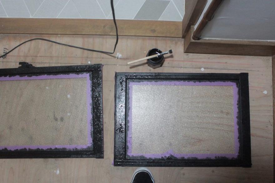 アルミサッシ窓をアイアンペイントでリメイクする