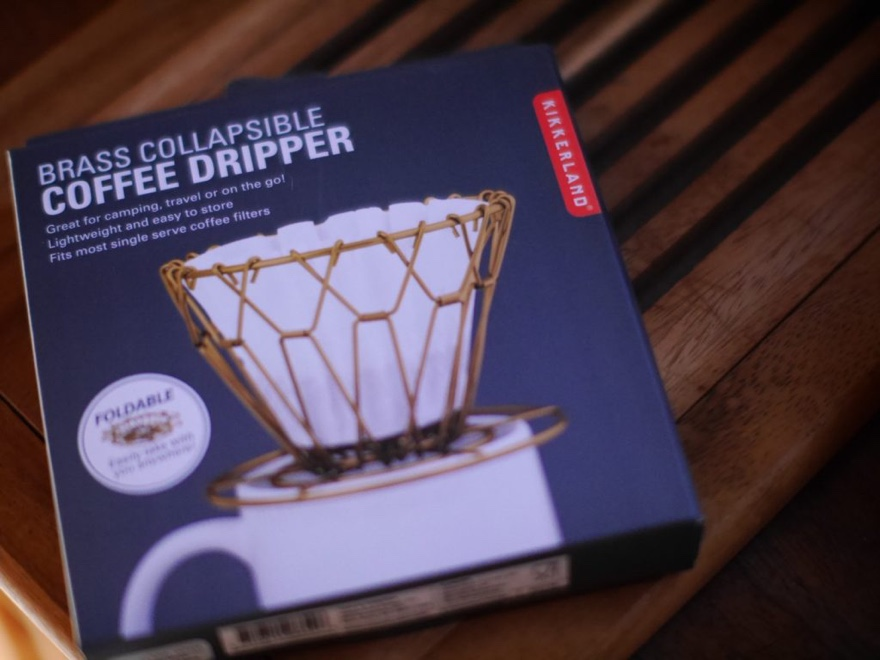 BRASS COLLAPSIBLE COFFEE DRIPPER