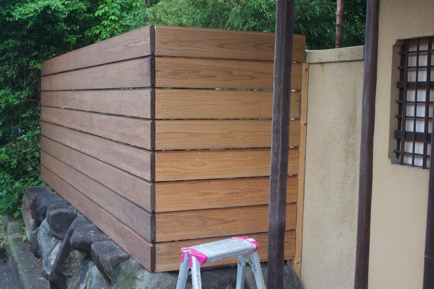 庭にフェンスをDIYで建てる方法