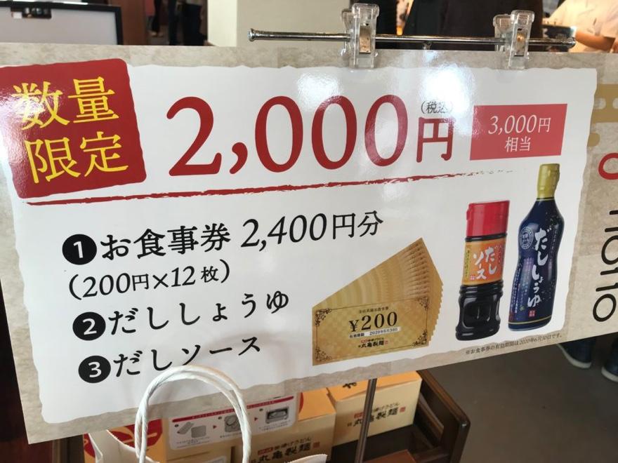 丸亀製麺の福袋2021