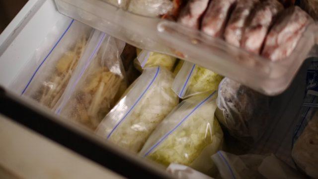 白菜の冷凍保存